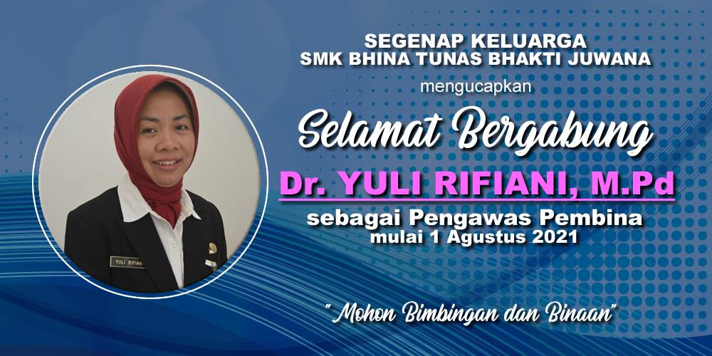 Selamat bergabung Ibu Dr. Yuli Rifiani, M.Pd. bersama Keluarga SMK Bhina Tunas Bhakti Juwana